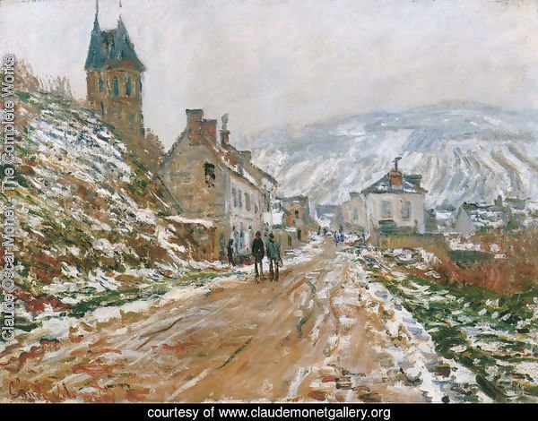 The Road In Vetheuil In Winter