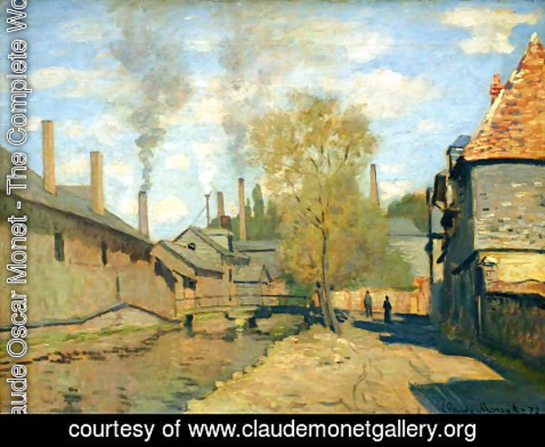 Claude Oscar Monet - The Robec Stream  Rouen Aka Factories At Deville  Near Rouen