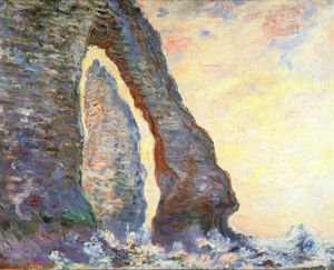 Claude Oscar Monet - The Rock Needle Seen Through The Porte D Aval