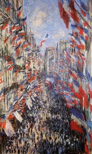 Claude Oscar Monet - The Rue Montorgeuil 30th Of June 1878