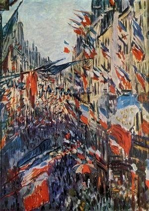 Claude Oscar Monet - The Rue Saint Denis  30th Of June 18782