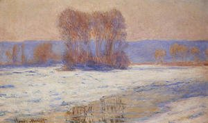 Claude Oscar Monet - The Seine At Bennecourt In Winter