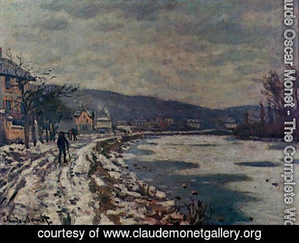 Claude Oscar Monet - The Seine At Bougival
