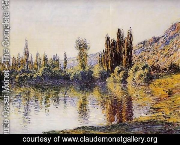 Claude Oscar Monet - The Seine At Vetheuil4