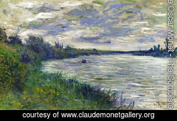 Claude Oscar Monet - The Seine Near Vetheuil  Stormy Weather