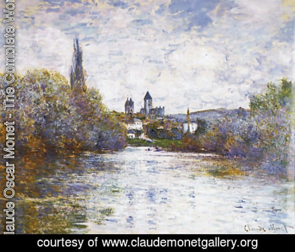 Claude Oscar Monet - The Small Arm Of The Seine At Vetheuil