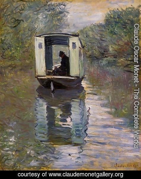 Claude Oscar Monet - The Studio Boat2