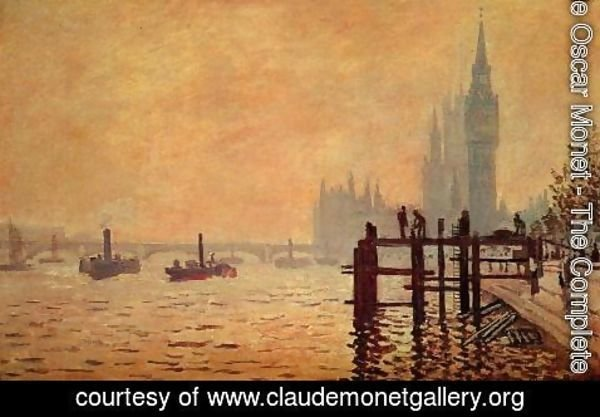 Claude Oscar Monet - The Thames Below Westminster