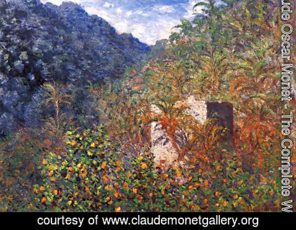 Claude Oscar Monet - The Valley Of Sasso  Blue Effect