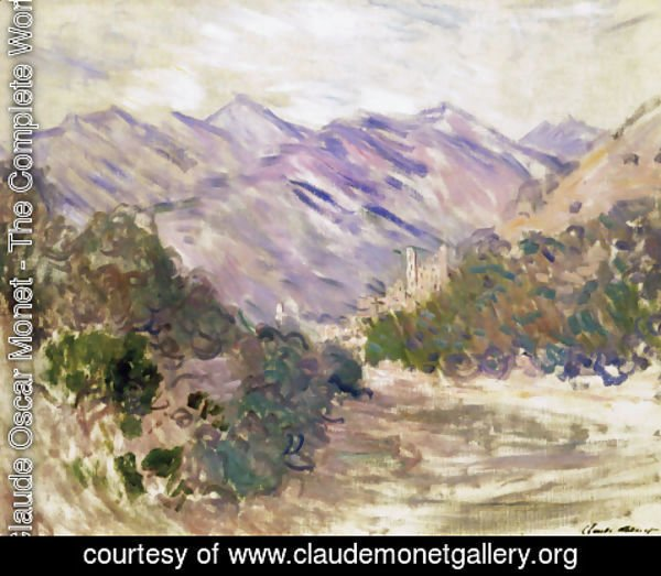 Claude Oscar Monet - The Valley Of The Nervia With Dolceacqua