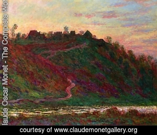 Claude Oscar Monet - The Village Of La Coche Blond  Evening