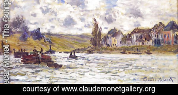 Claude Oscar Monet - The Village Of Lavacourt