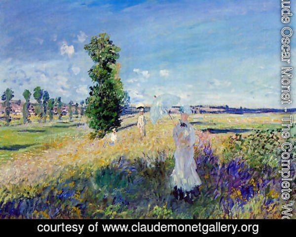 Claude Oscar Monet - The Walk  Argenteuil