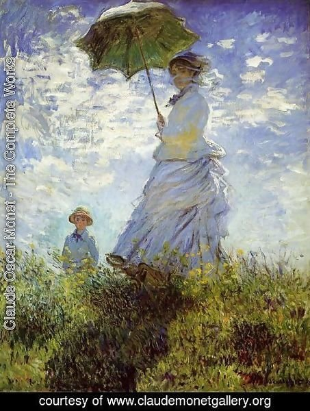 Claude Oscar Monet - The Walk  Woman With A Parasol