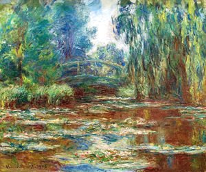 Claude Oscar Monet - The Water Lily Pond And Bridge
