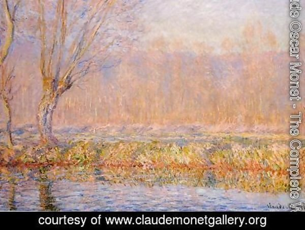 Claude Oscar Monet - The Willow Aka Spring On The Epte