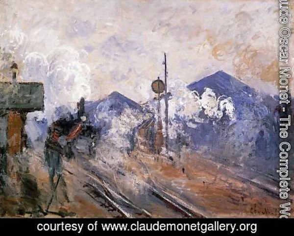 Claude Oscar Monet - Track Coming Out Of Saint Lazare Station