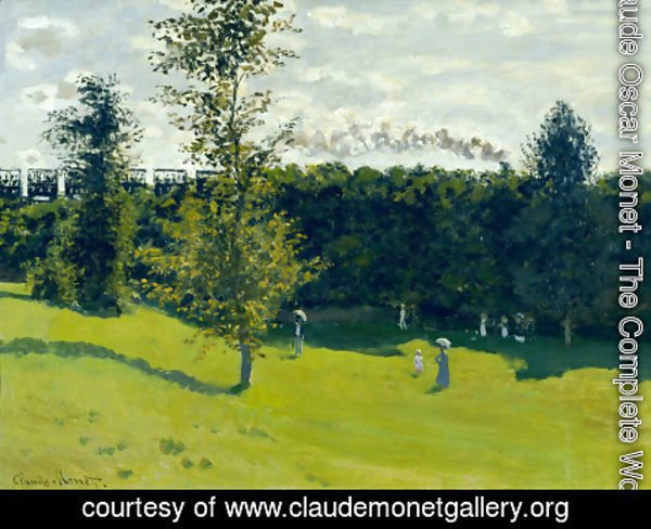 Claude Oscar Monet - Train In The Country