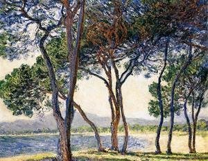 Claude Oscar Monet - Trees By The Seashore At Antibes