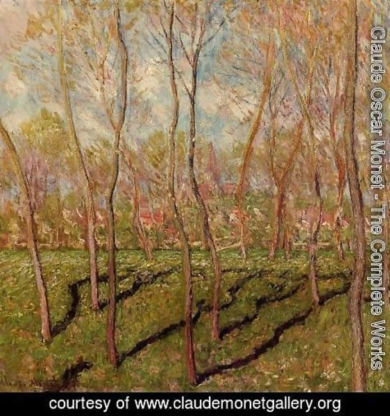 Claude Oscar Monet - Trees In Winter  View Of Bennecourt