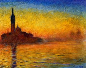 Claude Oscar Monet - Twilight  Venice