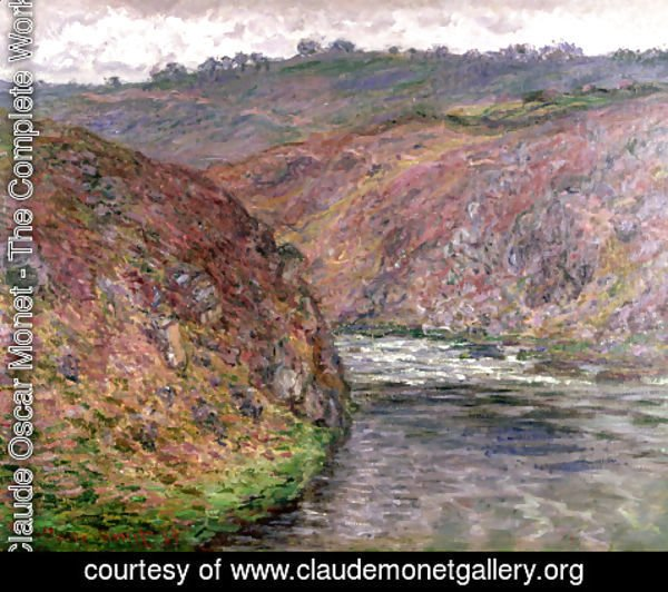Claude Oscar Monet - Valley Of The Creuse  Grey Day