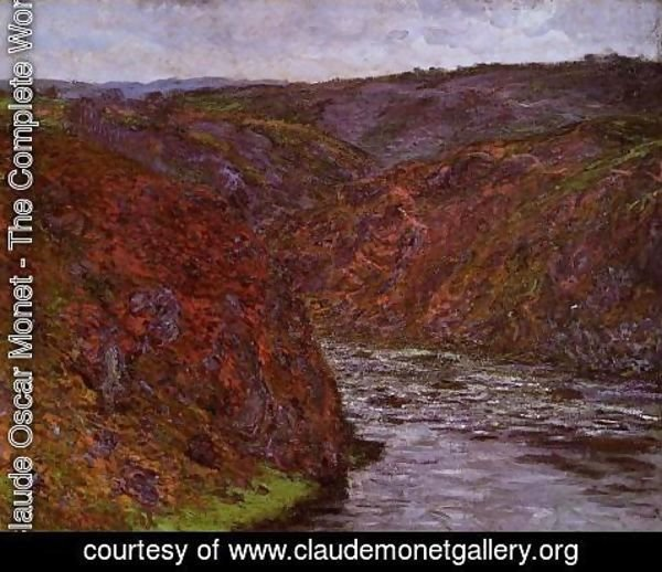 Claude Oscar Monet - Valley Of The Creuse  Grey Sky