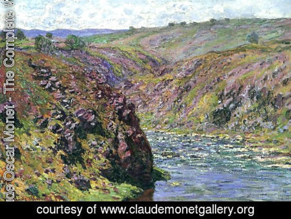 Claude Oscar Monet - Valley Of The Creuse  Sunlight Effect