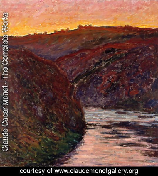 Claude Oscar Monet - Valley Of The Creuse  Sunset
