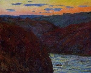 Claude Oscar Monet - Valley Of The Creuse  Sunset2