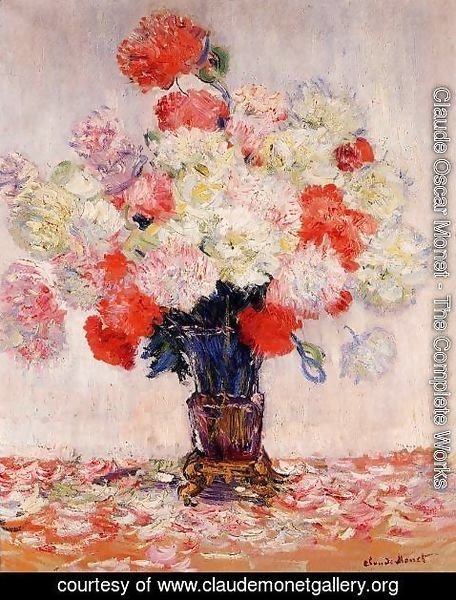 Claude Oscar Monet - Vase Of Peonies