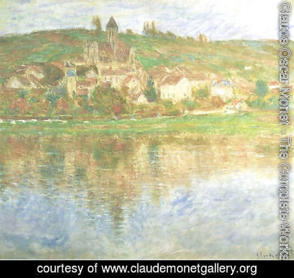 Claude Oscar Monet - Vetheuil At Sunset