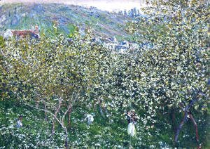 Claude Oscar Monet - Vetheuil  Flowering Plum Trees