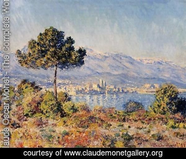Claude Oscar Monet - View Of Antibes From The Notre Dame Plateau