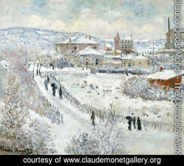 Claude Oscar Monet - View Of Argenteuil In The Snow