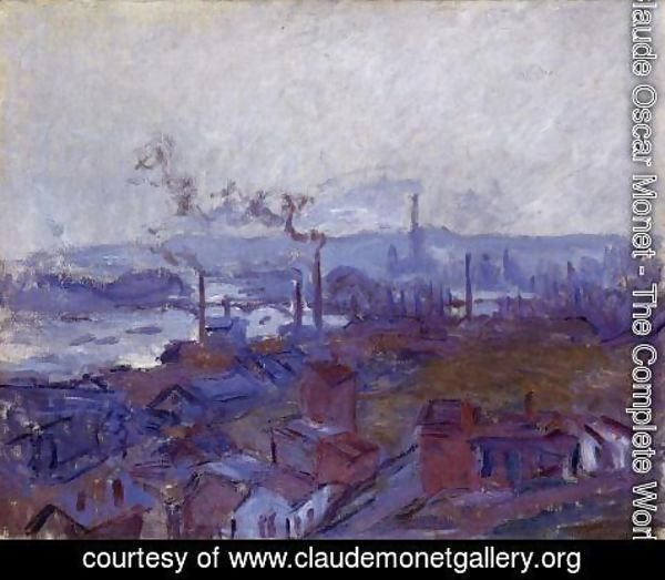 Claude Oscar Monet - View Of Rouen From The Cote Sainte Catherine