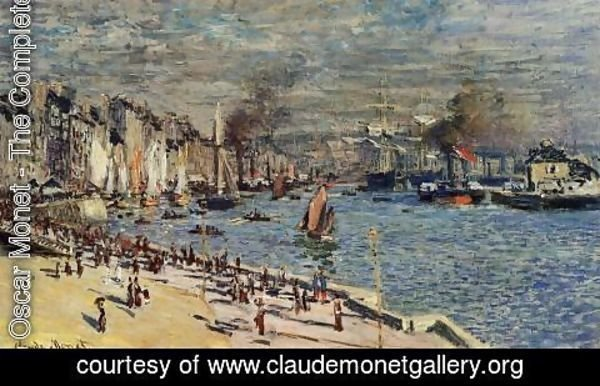 Claude Oscar Monet - View Of The Old Outer Harbor At Le Havre