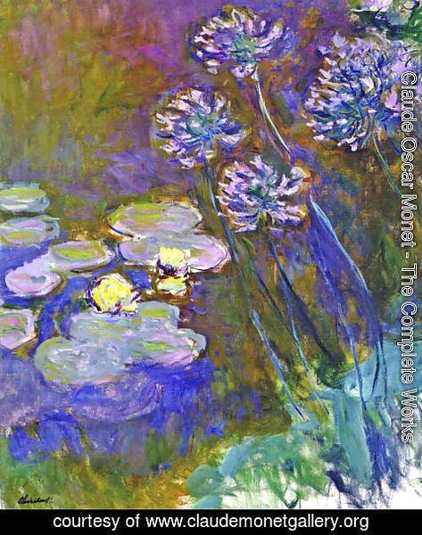 Claude Oscar Monet - Water Lilies And Agapanthus59