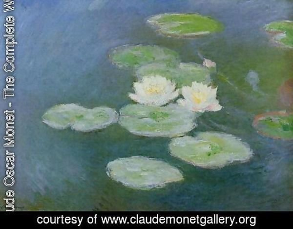 Claude Oscar Monet - Water Lilies  Evening Effect