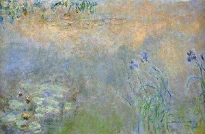 Claude Oscar Monet - Water Lily Pond With Irises