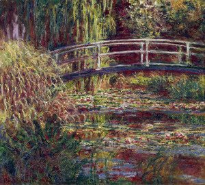 Claude Oscar Monet - Water Lily Pond  Symphony In Rose