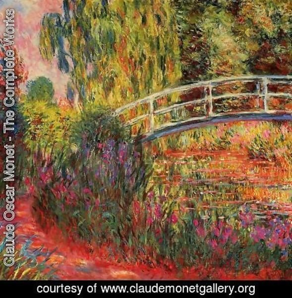 Claude Oscar Monet - Water Lily Pond  Water Irises