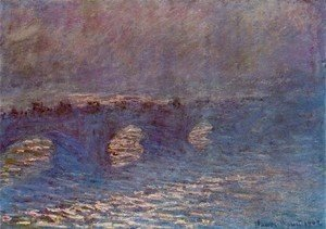 Claude Oscar Monet - Waterloo Bridge  Effect Of Sun In The Mist