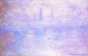 Claude Oscar Monet - Waterloo Bridge  Fog Effect