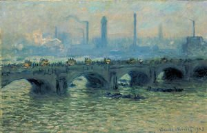 Claude Oscar Monet - Waterloo Bridge  Grey Weather