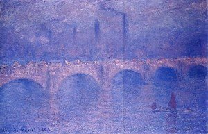 Claude Oscar Monet - Waterloo Bridge  Hazy Sun