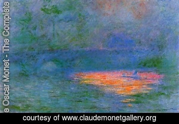 Claude Oscar Monet - Waterloo Bridge  Misty Weather