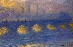 Claude Oscar Monet - Waterloo Bridge  Overcast Weather3