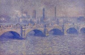 Claude Oscar Monet - Waterloo Bridge  Sunlight Effect