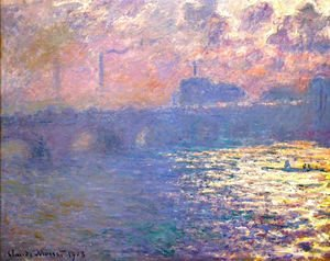 Claude Oscar Monet - Waterloo Bridge  Sunlight Effect2